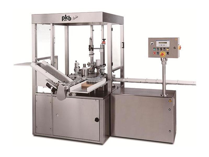 PKB ROBO Echantillons : remplisseuse / boucheuse jusqu'à 140 cpm