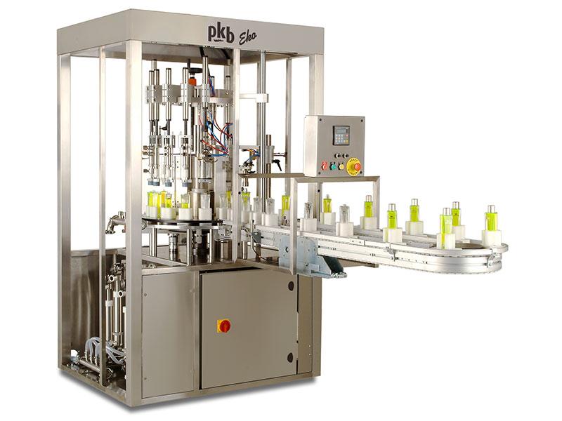 PKB EKO parfums :  remplisseuse / boucheuse semi-automatique 30 cpm
